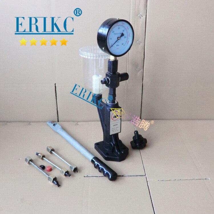 ERIKC probador de tobera Diesel herramientas de diagnóstico S60H común carril inyector de combustible