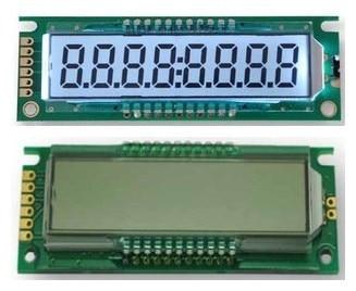 COB 8 dígitos Panel LCD de segmentos para HT1621B conducir IC retroiluminación blanca 3,3 V 5,0 V