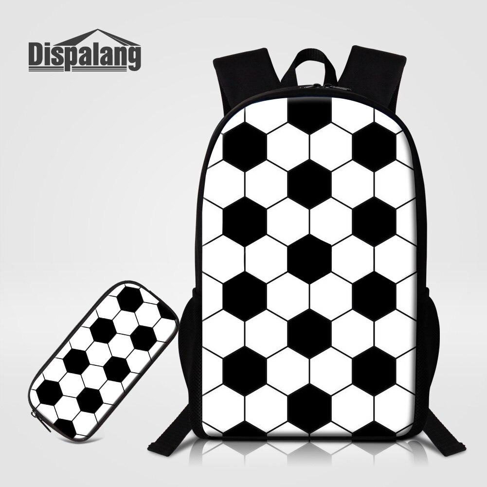 Dispalang, estuche escolar para niños, 2 uds., conjunto de bolsas, mochila con estampado de fútbol, mochila escolar personalizada con imagen, mochila escolar grande para niños