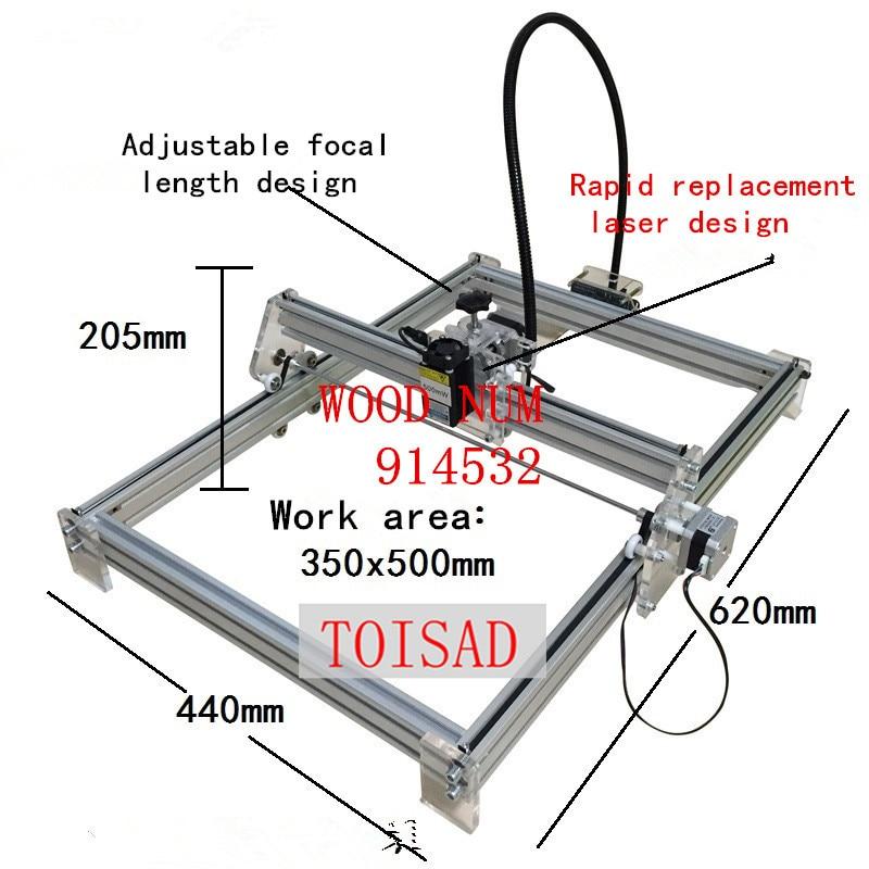 500 mw diy desktop mini máquina de gravura do laser marcação escultura máquina, 350*500 rosto trabalho