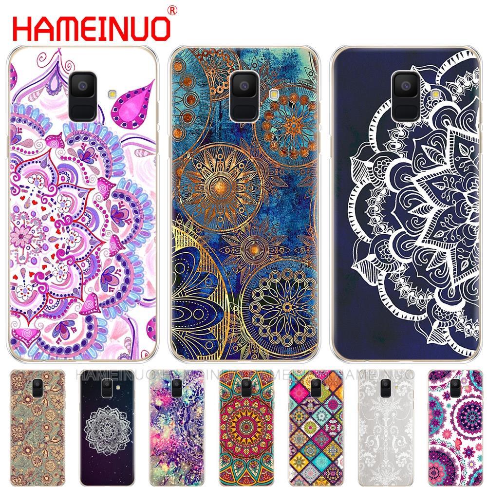 Funda de teléfono mandala Floral para Samsung Galaxy J4 J6 J8 A9 A7 2018 A6 A8 2018 PLUS j7 duo