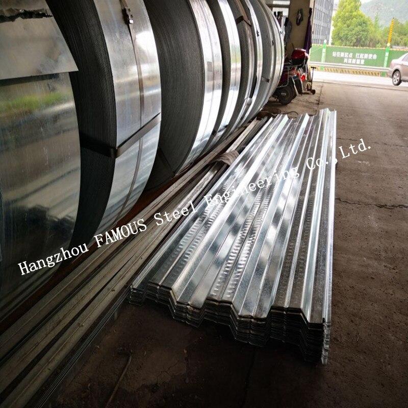 1.2 مللي متر مقياس المجلفن سطح صلب القوالب إلى أسفل من الخرسانة بلاطة (السندات-دك الطابق أو Comflor 80 ، 60 ، 210 يعادل)