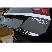 For Tiguan MK2 2017 2018 Door Sticker Stainless Steel back door Tailgate trim Car Styling Accessories