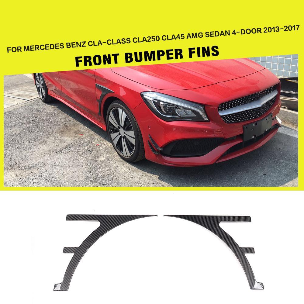 Protectores laterales de fibra de carbono para Mercedes Benz clase CLA CLA45 AMG Sedan de 4 puertas 2013 - 2017