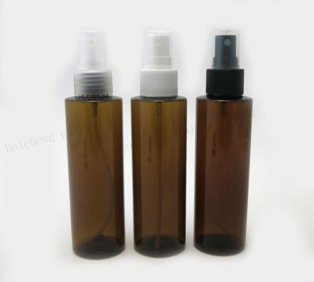 Botellas de ámbar rellenables vacías de 30X150ml, atomizador de Perfume de plástico, botella vacía con pulverizador, botella de maquillaje, venta al por mayor disponible