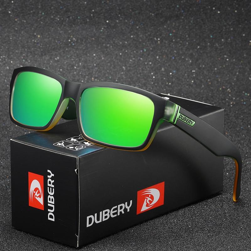Gafas de sol polarizadas DUBERY Vintage para hombre, gafas de sol para hombre, gafas cuadradas para conducir, gafas de sol negras para verano, mangas deslizantes