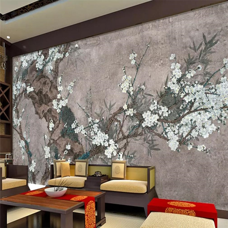 Custom 3d mural Chinese style painting mood living room TV background wall decoration wallpaper photo