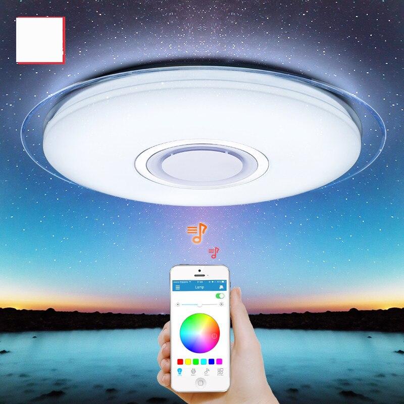 Moderno led luzes de teto rgb pode ser escurecido 25 w 36 52 app controle remoto bluetooth música quarto luz lâmpadas lâmpada do teto inteligente