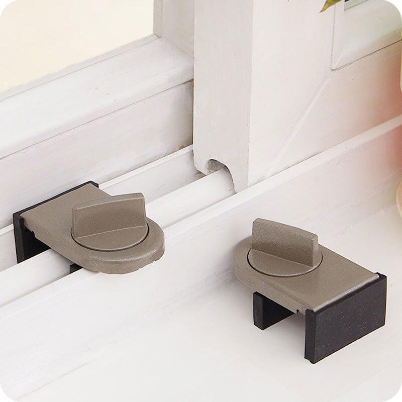 Vanzlife cerraduras en ventanas ajustable pestillo de seguridad para puerta móvil ventana cerradura de seguros la protección anti-robo bloqueo ventana tapones