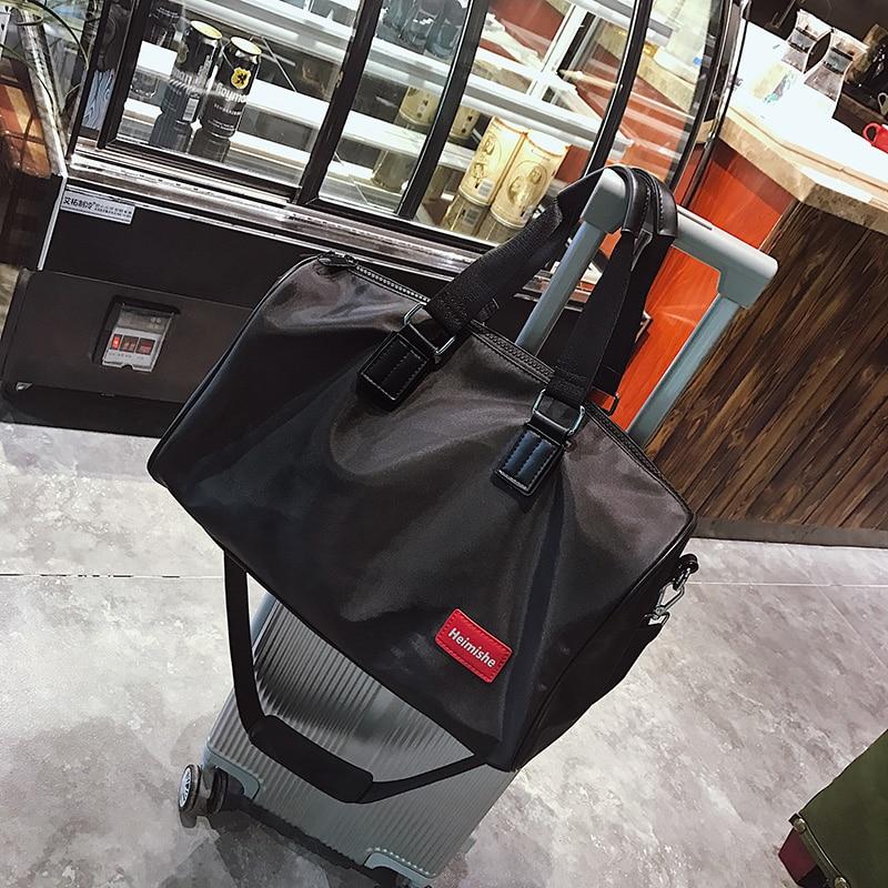 2018 nuevo bolso de viaje grande de Nylon de moda bolso de viaje plegable de gran capacidad equipaje de viaje bolsas de lona de mujer bolso de mano Casual