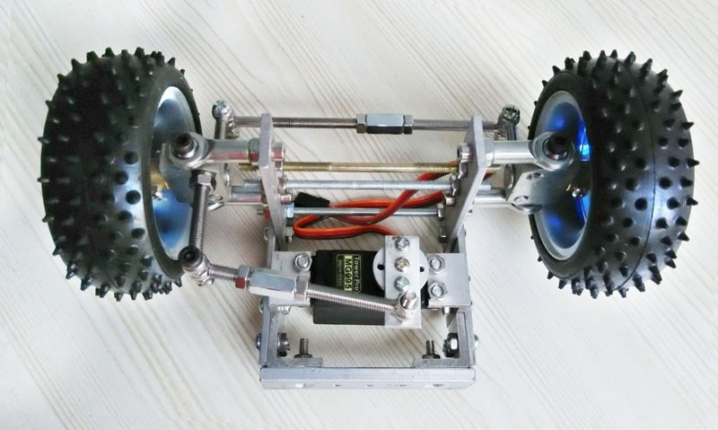Metal Chassis Frame, Steering Engine Steering Robot Car Chassis , Obstacle Avoidance , Velocity ,Universal Wheel RC Toy Kit enlarge