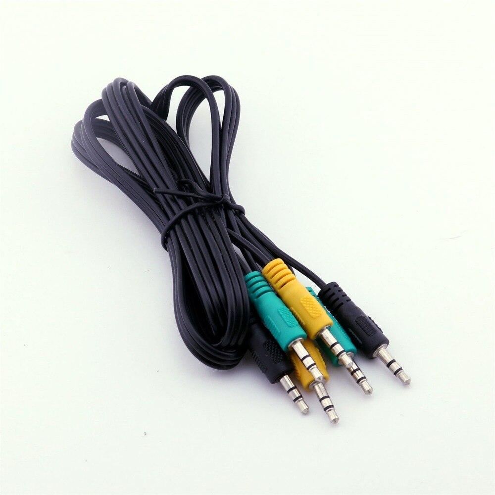 10 pièces remplacement 3.5mm mâle TRS câble Audio pour 5.1 canaux Logitech haut-parleurs dordinateur 5FT