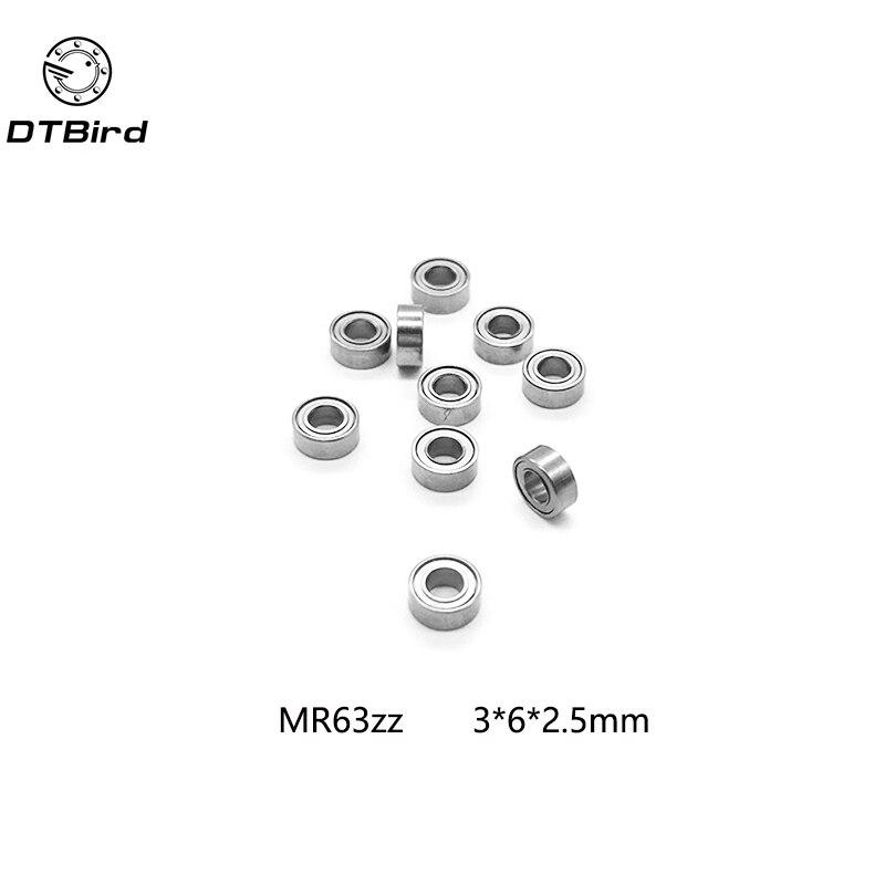 10 шт. MR63ZZ MR63 2RS L-630ZZ 673ZZ глубокий шаровой подшипник 3x6x2,5 мм Миниатюрный подшипник ABEC3 3*6*2,5