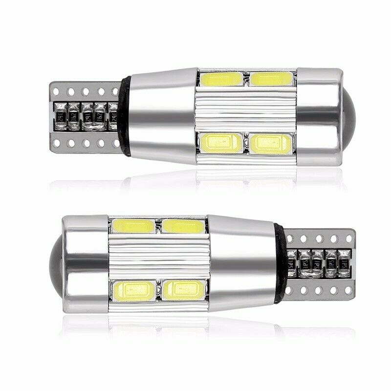 2 pçs/set Car Styling Car Auto Canbus LEVOU T 10 194 W5W 10 SMD 5630 LED Light Bulb Estacionamento Sem Erro LED Side Car Light Branco Vermelho