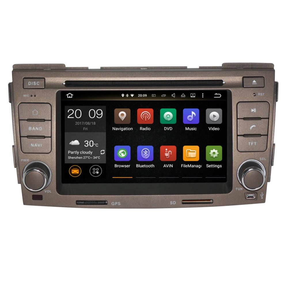 2 Din 4GB de RAM Android 9,0 reproductor de DVD del coche de la unidad para Hyundai Sonata Ling Xiang 2009 2010 navegación GPS Radio Bluetooth WIFI