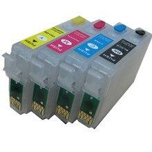 T1811 -T1814 18 cartouche dencre rechargeable pour EPSON XP-212 XP-215 XP-312 XP-315 XP-412 415 XP-225 XP-322 XP-325 XP-422 XP-425