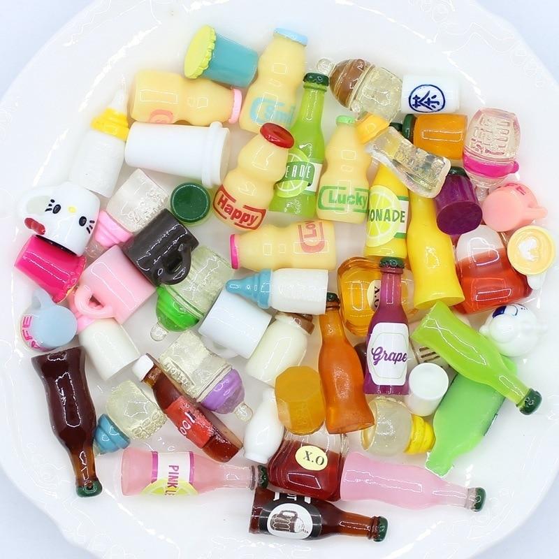 20 unidades de tapas para botellas de Chocolate en miniatura para casa de muñecas, minijuguete para manualidades en casa, decoración de hadas, bonsái, decoración de tartas, accesorios DIY