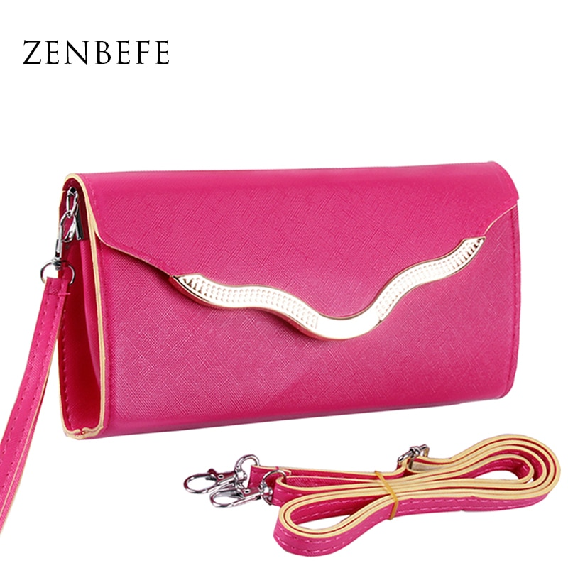 ZENBEFE Fashion Women Wallet Design Cell Phone Card Long Lady Wallet Purse Clutch Passport Bag Small Women bag Small Bags purses