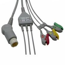 2017 Compatible para Philips/HP 12Pin MP20/VM6Patient Monitor Cable ECG una pieza 3 Leadwire... monitor Cable Clip final AHA TPU