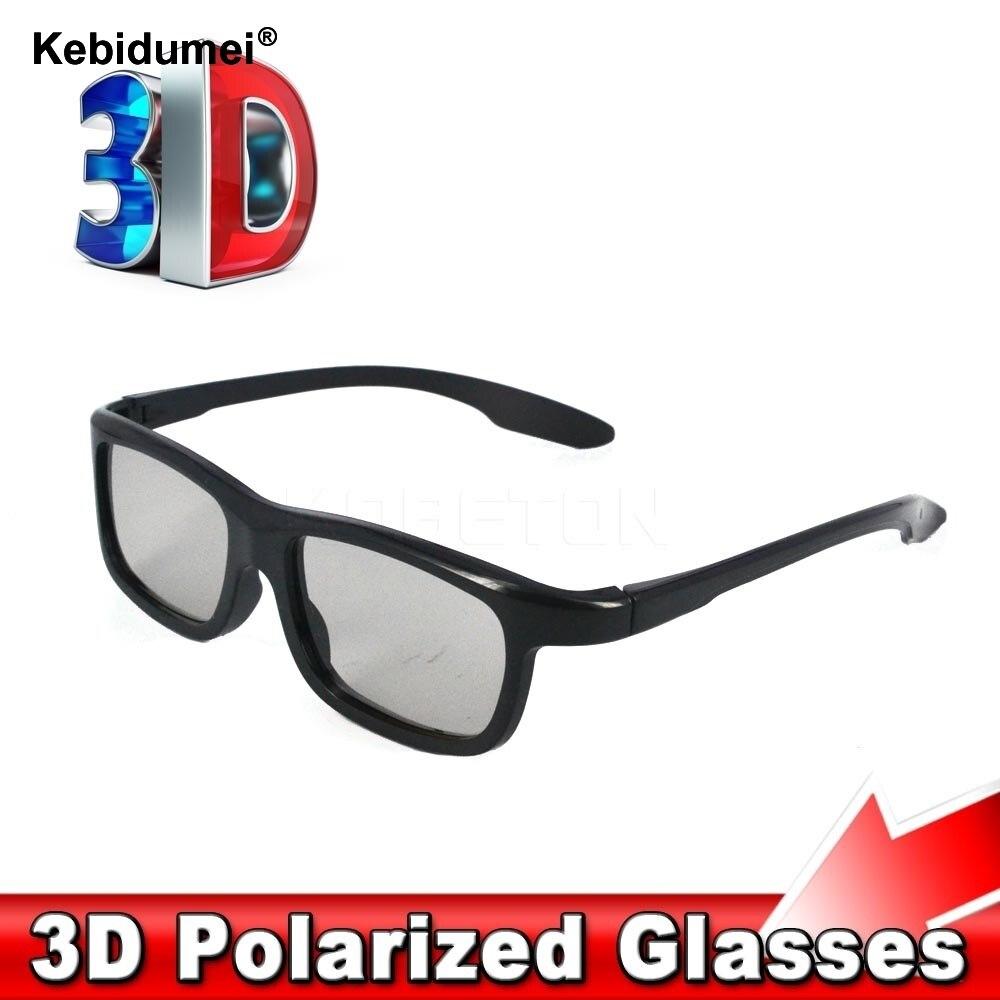 3D поляризованные очки Kebidumei Fahion, стерео очки, солнцезащитные очки, стиль для Samsung Smart TV, LG, Sony, Sharp TV