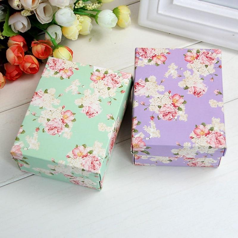 300 pçs verde roxo pouco flor caixa de doces fita de seda amor sobremesa caixas de chá caixas de doces de casamento requintado pequena caixa de presente