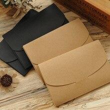 Sobre de papel Kraft Retro de 250g, paquete de tarjeta postal en blanco, sobre de caja de regalo, 20 unids/lote 16*10,5 cm