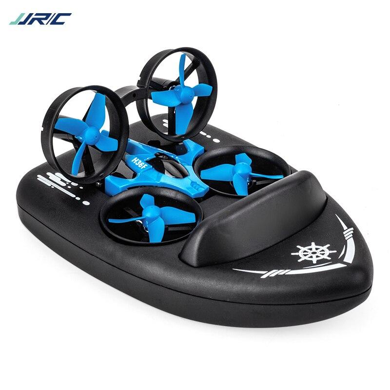 RC Mini Quadcopter + barco JJRC H36F 2,4g 4ch velocidad de 6 ejes 3d Flip modo sin cabeza Rc Drone juguete presente