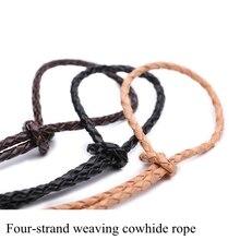 Bricolage tissé à la main en cuir corde en daim bracelet collier matériel accessoires bijoux corde ceinture corde