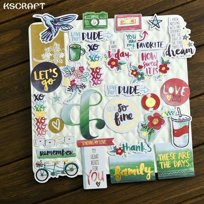 Ksccraft 25 шт., вы-мой любимый карточный шток для скрапбукинга, Happy planner/Card Making/jouring Project