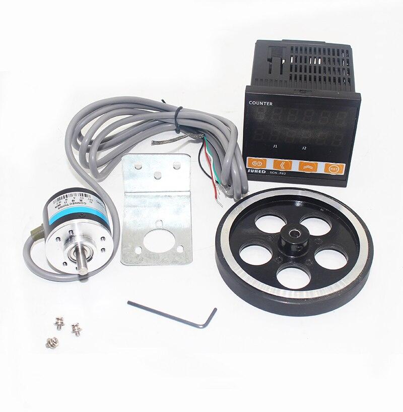 Contador de longitud de pantalla Digital Sensor fotoeléctrico inteligente medidor de longitud SCN-P62 Y