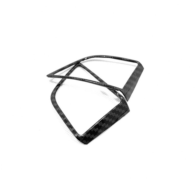 For Hyundai Tucson 2015 16 17 18 2019 ABS Carbon fibre Car Steering wheel Button frame Cover Trim Car Styling Accessories 2pcs