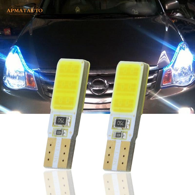 2x T10 W5W светодиодные лампы для парковки, маркер, лампы для Nissan LIVINA Pathfinder TEANA Qashqai Bluebird Sylphy Sunny TIIDA MURANO NV