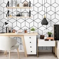 modern exfoliation cube 3d wallpaper for living room waterproof nordic abstract pattern white wall paper roll