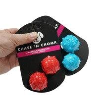 CAITEC-jouets pour chiens   Mini boule à grincer, élastique souple flottant, grande pour le lancer et la chasse, meilleur pour les Mini ou les petits chiens