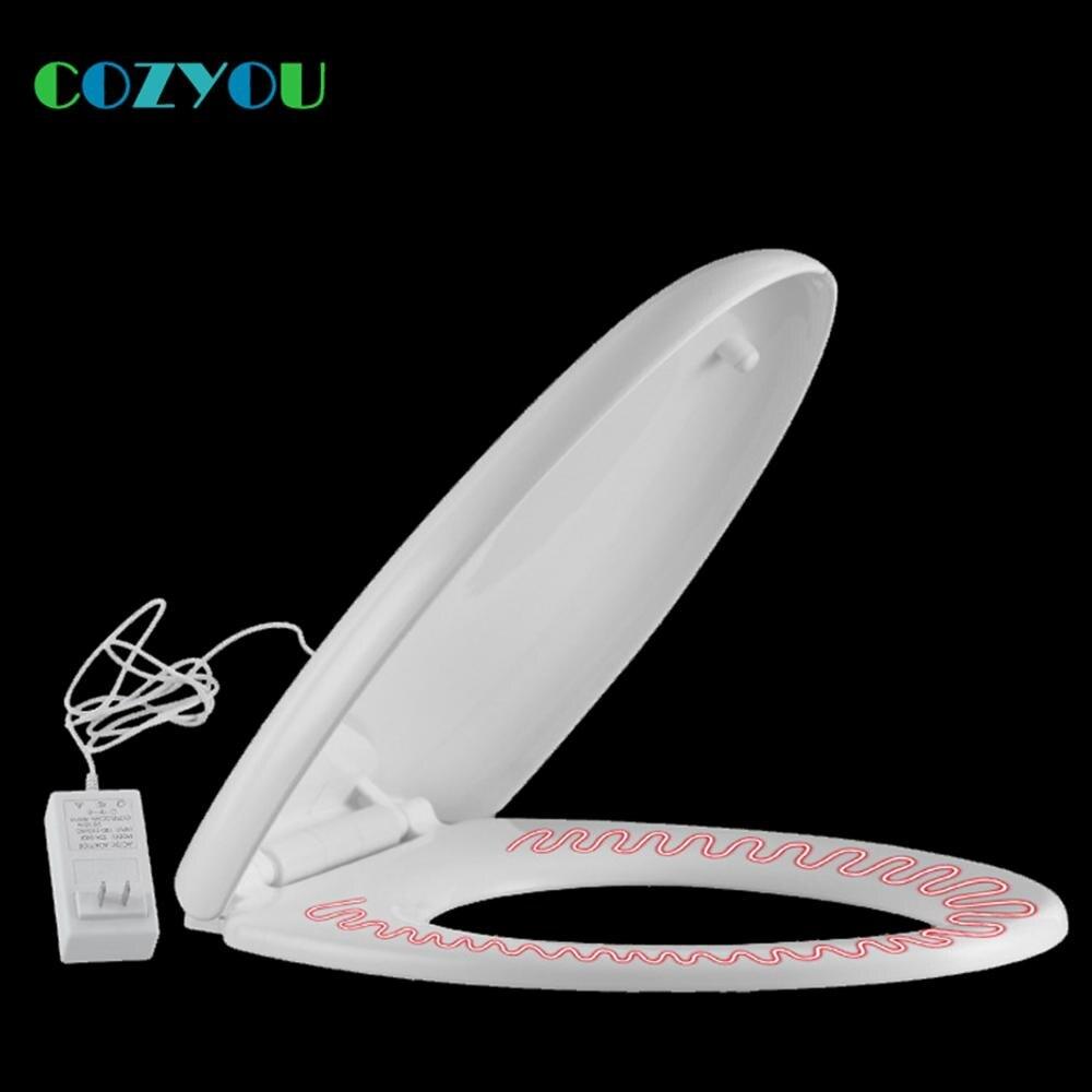 COZYOU, asiento de inodoro calefactable de Tipo V, cierre lento, Material PP, voltaje de 100V-250V, potencia de 28W, tapa de inodoro calefactora GBP1706SHV