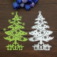 Hot Sale Christmas tree Metal Steel Embossing Template Cutting Die Stencil For DIY Scrapbooking Card Decorative Album Craft