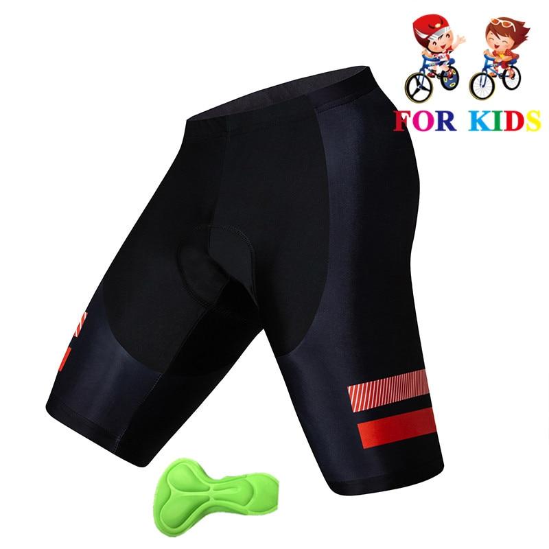 Los niños pantalones cortos de Ciclismo de Wicking de la humedad pantalones cortos para bicicleta de montaña de verano a prueba de golpes a prueba 3D GEL Pad cojín bicicleta pantalones cortos de Ropa de bicicleta