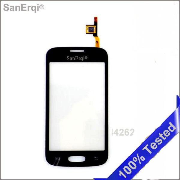 SanErqi 100 шт. Протестировано для Samsung Galaxy Star Pro S7262, GT-S7262, S7260, GT-S7260, 4,0 дюйма, сенсорная панель, стекло объектива