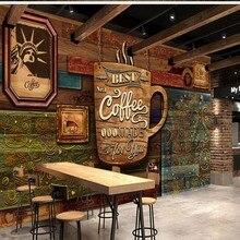 Прямая поставка Fatman пользовательские 3d настенные фото обои HD ручная роспись Европейский Винтажный кофе магазин ресторан обои Papel де сравнению