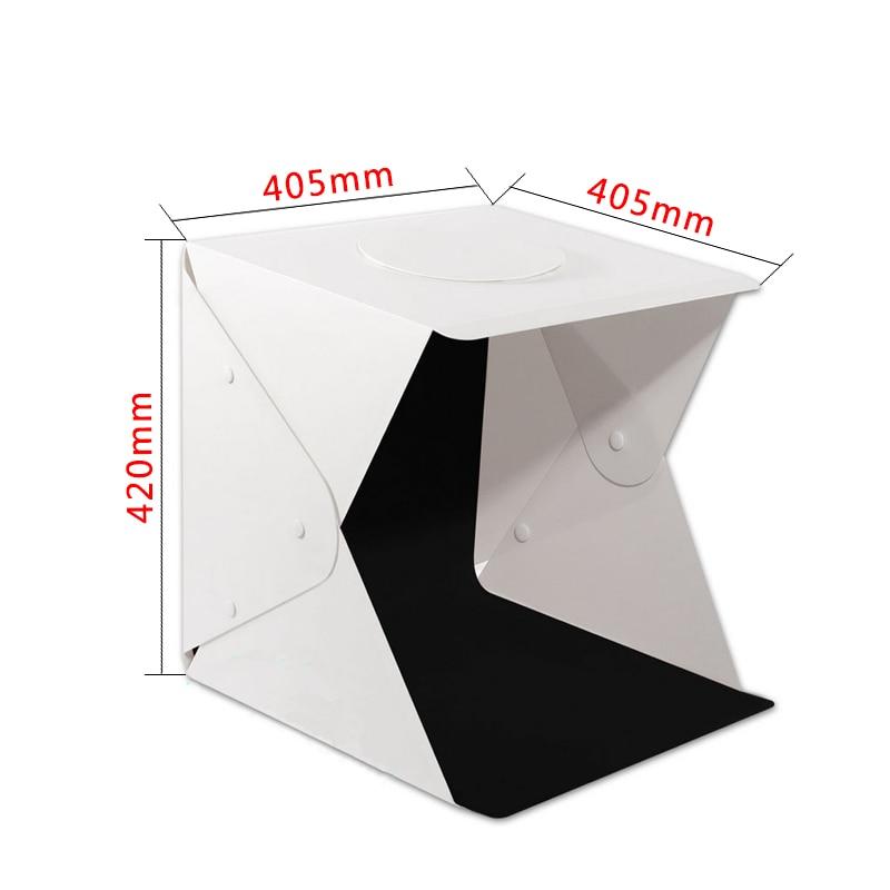 40*40*42cm mini dobrável lightbox fotografia estúdio difusa caixa suave lightbox fotografia preto branco fundo kit caixa de luz