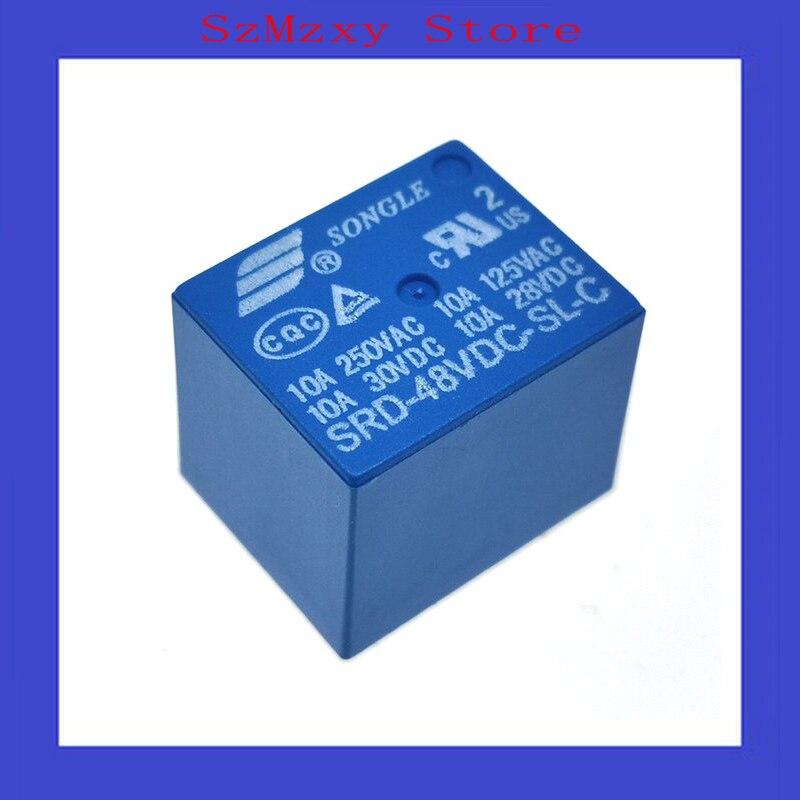 5 unids/lote relé de SRD-48VDC-SL-C SRD 48VDC-SL-C 48V DIP5
