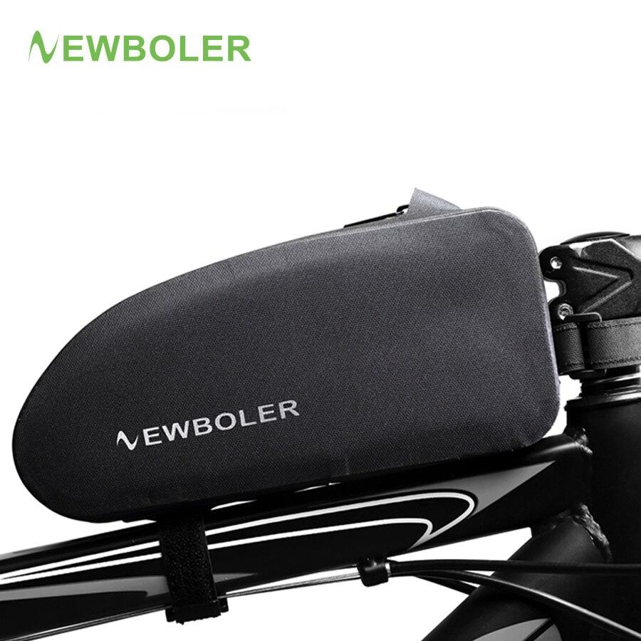 NEWBOLER Bike Bags Waterproof Cycling Top Front Tube Frame Bag Large Capacity MTB Road Bicycle Pannier Black Bicycle Accessories