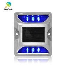 CE ได้รับการอนุมัติไฟกระพริบ LED สีฟ้าคุณภาพสูงกันน้ำแผนที่ stud