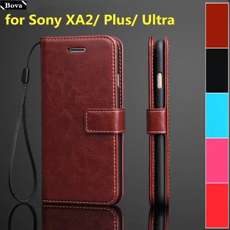Funda con tarjetero para Sony Xperia XA2/XA2 Plus/XA2 Ultra funda de teléfono de cuero de poliuretano cartera flip cover Fundas protectoras
