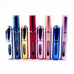 Logotipo bem-vindo! 1 pc qualidade superior 5ml perfume garrafa mini metal pulverizador de alumínio recarregável perfume atomizador viagens tamanho