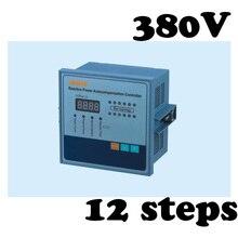 Régulateur de puissance réactif   Régulateur de régulateur de puissance, contrôleur de compensation pour facteur de puissance, condensateur 12 niveaux 380v