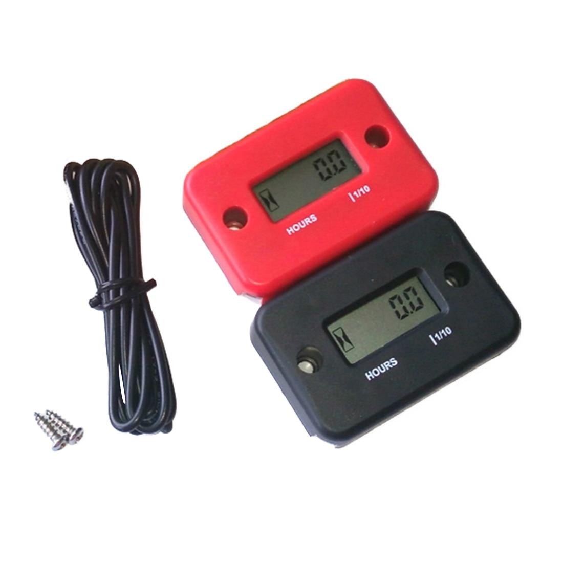 Medidor Digital de horas del motor, impermeable, LCD, reloj de arena para motocicleta, moto de cross, Marina, ATV, moto de nieve