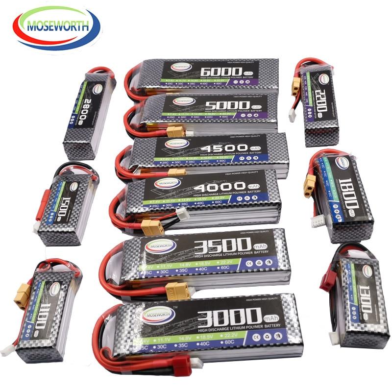 Jouet RC LiPo Batterie 3S11.1V 1800 2200 3000 3800 4500 5200 6000mAh 25C 35C 60C Pour Avion RC Hélicoptère Voiture Quadrirotor Avion