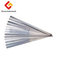 High Strength Metric Long Feeler 0.02 To 1mm 17 Blades 30cm Thickness Gap Metric Filler Feeler Gauge Measure Tools