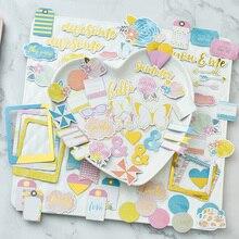 Hello-cartes découpées colorées   70 pièces, pour Scrapbooking planificateur heureux/fabrication de cartes/projet journalisation T12